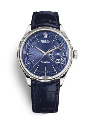劳力士切利尼日历型50519-0011蓝色表带
