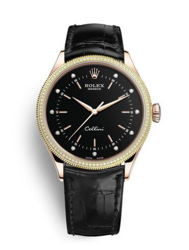 劳力士切利尼时间型50605RBR-0014黑色表盘