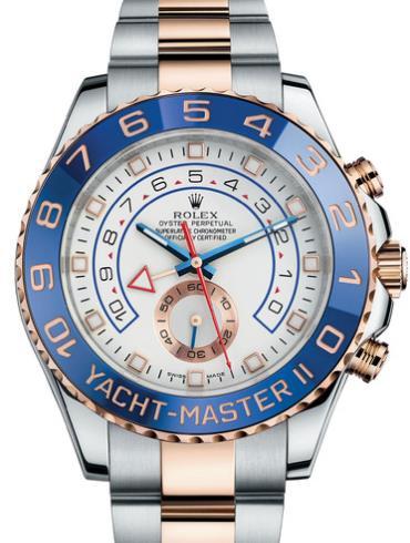 劳力士游艇名仕型 II44玫瑰金钢蓝陶瓷圈白面男表116681-0001表径44mm