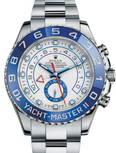 劳力士游艇名仕型 II44精钢蓝陶瓷圈白面男表116680-0001精钢表扣