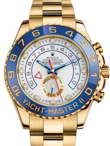 劳力士游艇名仕型 II44黄金蓝陶瓷圈白面男表116688-0001表径44mm