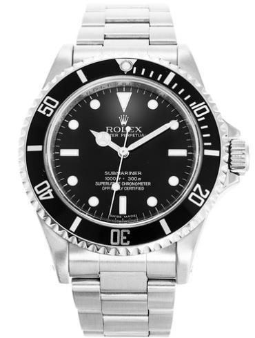 劳力士潜航者型40精钢黑面男表14060M-4line银色表带