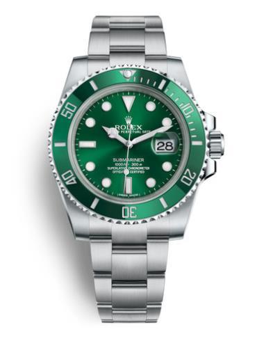 劳力士潜航者型40精钢绿圈绿面男表116610LV-0002精钢表扣