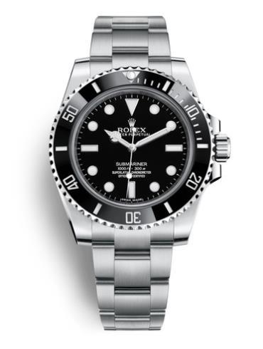 劳力士潜航者型40精钢黑陶瓷圈黑面男表114060-0002精钢表扣