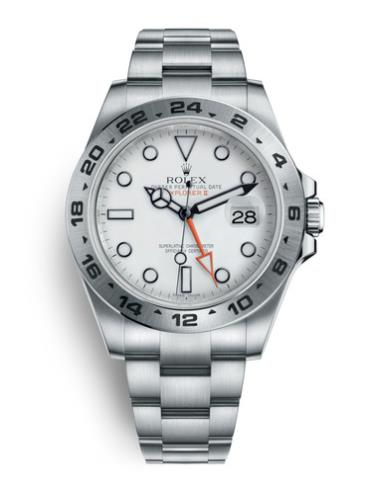 劳力士探险家型II216570-0001银色表带