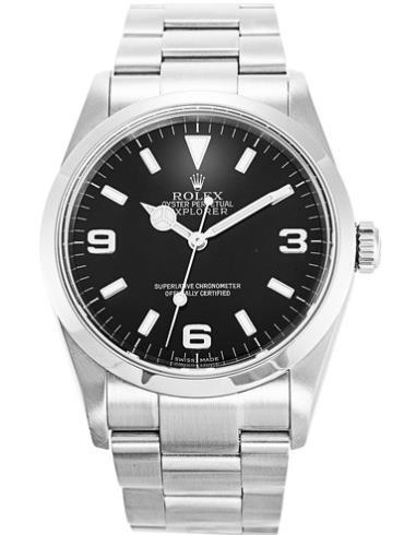 劳力士探险家型36精钢黑面男表114270-78690精钢表扣