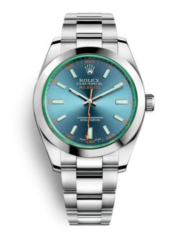 劳力士MILGAUSS40精钢蓝面白条男表116400GV-0002精钢表扣