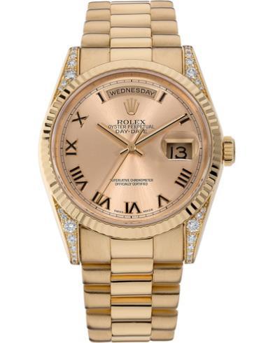 劳力士星期日历型118338黄金表扣男士腕表