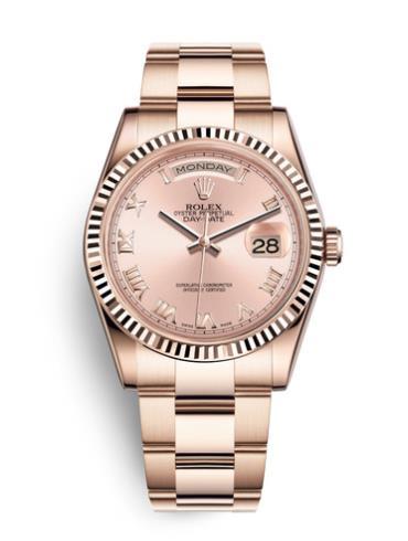 劳力士星期日志型118235F-0056玫瑰金表扣
