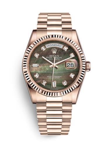 劳力士星期日历型118235F-0007玫瑰金表扣