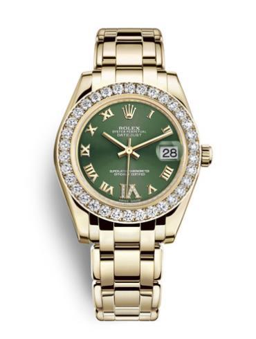 劳力士珍珠淑女型81298-0032绿色表盘