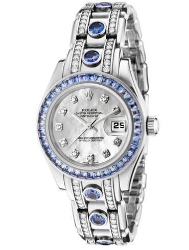 劳力士珍珠淑女型2980309BR银色表带