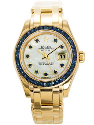 劳力士珍珠淑女型29黄金珠宝女表80308SAPH金色表壳