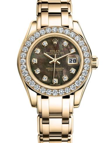 劳力士珍珠淑女型80298-0077金色表带