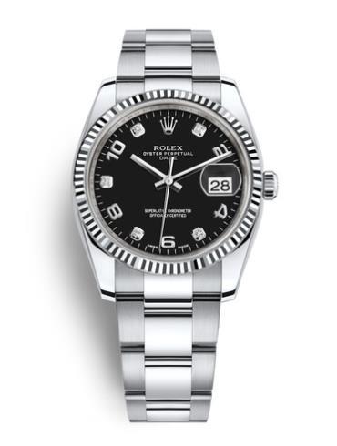 劳力士蚝式恒动日历型115234-0011黑色表盘