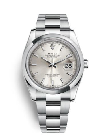 劳力士日志型36精钢银面男表116200-0056精钢表扣