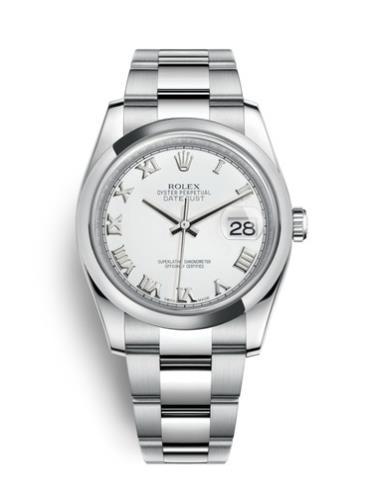 劳力士日志型36精钢罗马字银面男表116200-0055精钢表扣