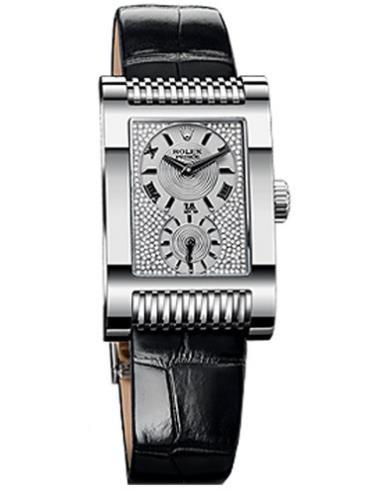 劳力士切利尼系列Prince手表5441/9镶钻款白金表扣