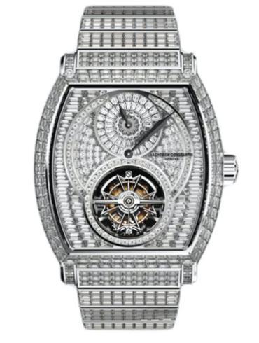 江诗丹顿马耳他系列30682/S21G-9477镶钻男士腕表