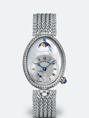 宝玑那不勒斯皇后系列8908BB/52/J20/D000白色珍珠母贝表盘