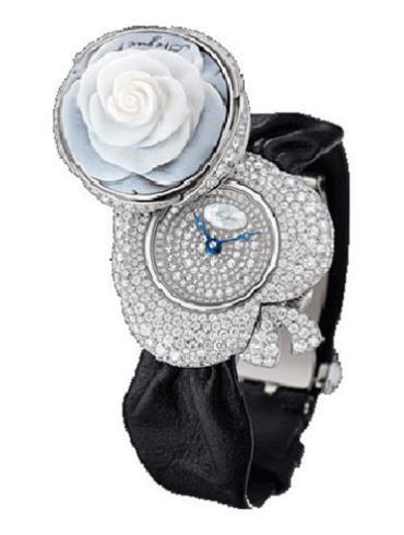 宝玑高级珠宝腕表系列GJ24BB8548/DDC3黑色表带