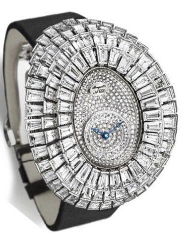 宝玑高级珠宝腕表系列GJE25BB20.8989DB1黑色表带
