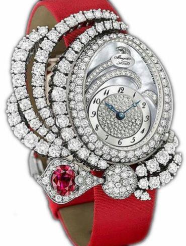 宝玑高级珠宝腕表系列GJE16BB20.8924R01白金表扣