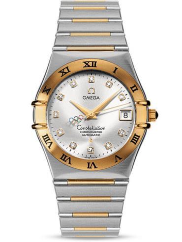 欧米茄特别系列111.20.36.10.52.001精钢表扣间金色表带