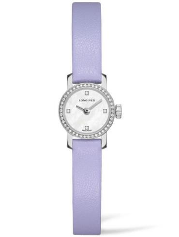 浪琴袖珍系列L2.303.0.87.5女士淡紫色表底盖