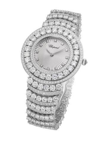 萧邦女装珠宝系列109434-1002女士腕表银色表盘