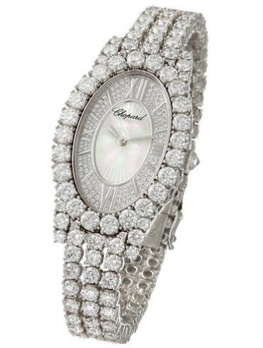 萧邦女装珠宝系列109380-1001白色表盘