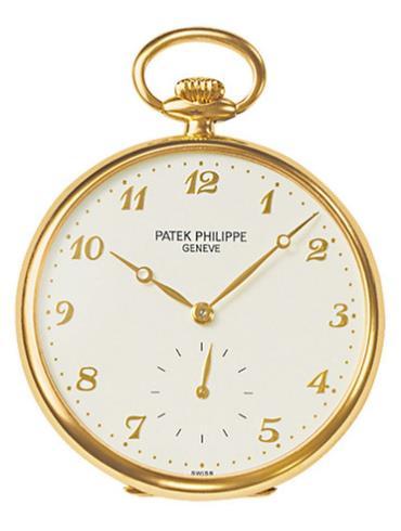 百达翡丽当代收藏系列973J-001怀表金色表带