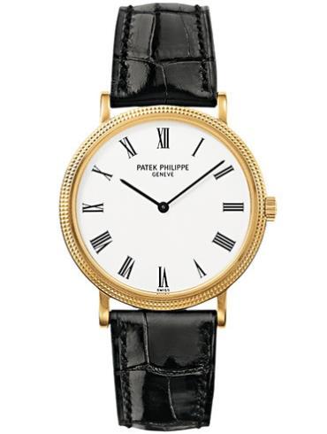 百达翡丽Calatrava系列5120J-001黑色表带男士手表