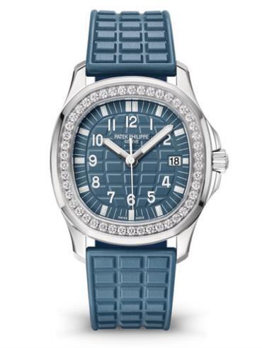 百达翡丽aquanaut系列镶钻钢石英女表5067A-025