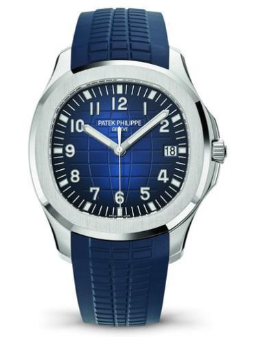 百达翡丽Aquanaut系列40周年日历自动腕表5168G-001蓝色表盘