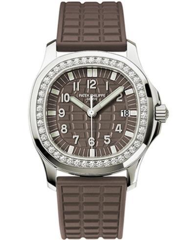 百达翡丽Aquanaut系列棕色石英女款钢表5067A-023棕色表盘