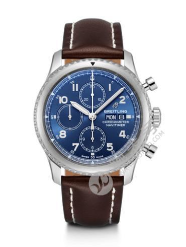 百年灵航空计时8计时腕表43A13314101C1X2棕色表带