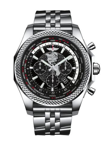 百年灵宾利B05世界时间计时腕表AB0521U4/BD79/990A黑色表底盖