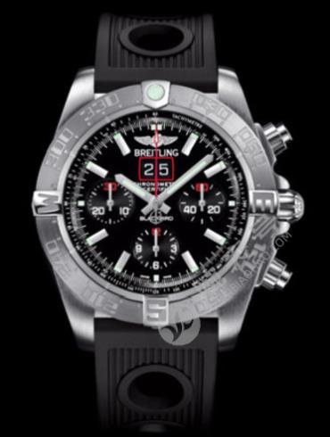 百年灵机械计时黑鸟侦察机腕表系列A4436010/BB71黑色表盘