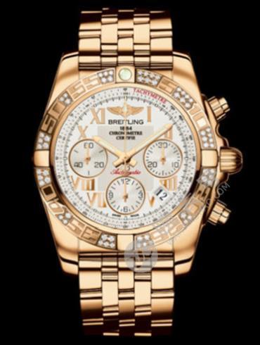 百年灵机械计时41腕表系列HB0140AA/G759银色表盘