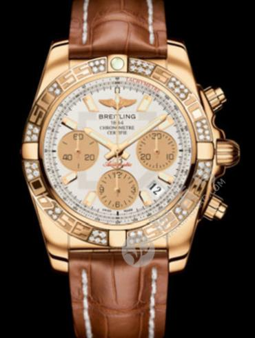 百年灵机械计时41腕表系列HB0140AA/G713金色表带
