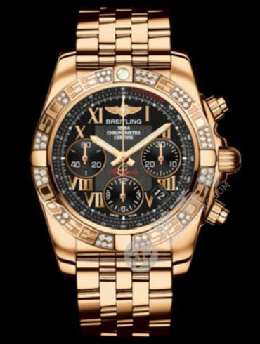 百年灵机械计时41腕表系列HB0140AA/BC08黑色表底盖