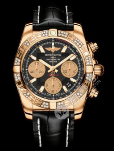 百年灵机械计时41腕表系列HB0140AA/BA53珍珠色表底盖