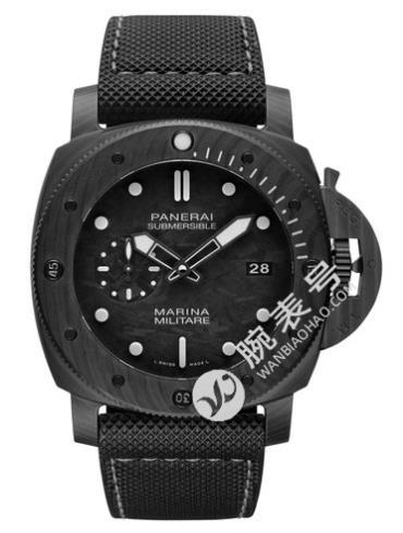 沛纳海PaneraiSubmersible专业潜水Marina Militare黑色表带