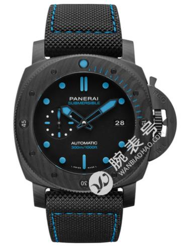 沛纳海Panerai潜行系列Submersible专业潜水Carbotech? 42mm腕表 PAM00960黑色表带