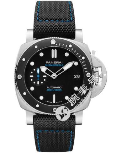 沛纳海Panerai潜行系列Submersible专业潜水42mm腕表黑色表底盖
