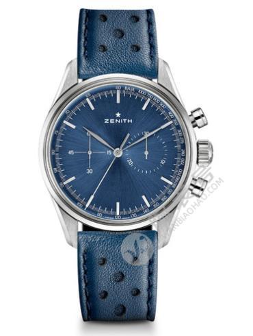 真力时Heritage 传承系列146复古计时03.2150.4069腕表蓝色表底盖