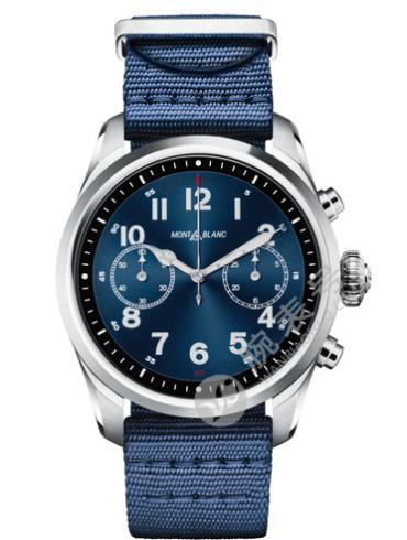 万宝龙智能腕表SUMMIT2系列精钢表123853蓝色表带
