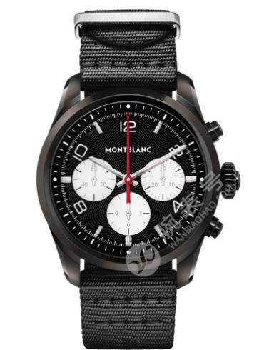 万宝龙智能腕表SUMMIT2系列精钢表123852黑色表带