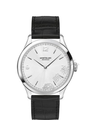 万宝龙传承精密计时系列超薄腕表112515银白色表盘